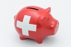 Szwajcarski prosiątko bank Zdjęcia Stock