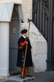 Szwajcarski strażnik watykan Obrazy Stock