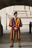 Szwajcarski strażnik outside Watykan Zdjęcie Stock