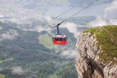 Szwajcarski wagon kolei linowej Fotografia Royalty Free