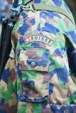 Szwajcarski wojsko mundur Obrazy Royalty Free