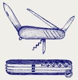 Szwajcarski wojsko nóż Zdjęcie Royalty Free