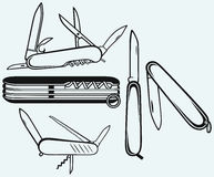 Szwajcarski wojsko nóż Fotografia Royalty Free