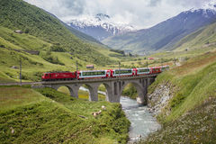 Szwajcarski wysokogórski krajobraz Obrazy Stock