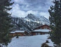 Szwajcarski zima krajobraz Zdjęcia Royalty Free