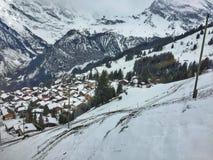 Szwajcarski zima krajobraz Obrazy Stock