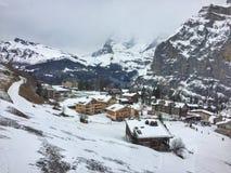 Szwajcarski zima krajobraz Obraz Royalty Free