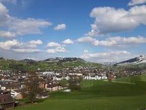 Szwajcarskie Alp wioski w Szwajcaria Zdjęcie Royalty Free