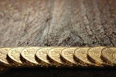 Szwajcarskie złociste monety 03 Zdjęcie Stock