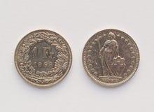 Szwajcarskiego franka moneta (CHF) Obraz Royalty Free