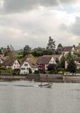 Szwajcary obsługują w łodzi Obraz Royalty Free