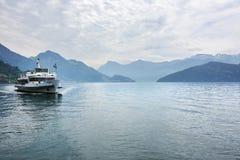 Szwajcary wysyłają na jeziornej lucernie, Szwajcaria Zdjęcie Stock