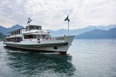 Szwajcary wysyłają na jeziornej lucernie, Szwajcaria Obrazy Royalty Free