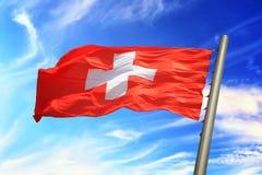 szwajcarzy bandery Obrazy Stock