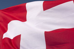szwajcarzy bandery Fotografia Royalty Free