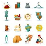 Szwalne ikony ustawiać Zdjęcia Royalty Free