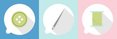 Szwalne ikony w mowa balonie Obrazy Stock