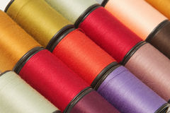 Szwalne nici multicolor Fotografia Stock