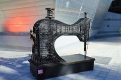 Szwalnej maszyny instalacja w Andorra losie angeles Vella, ksiąstewko Andorra obrazy royalty free