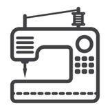Szwalnej maszyny linii ikona, gospodarstwo domowe i urządzenie, Zdjęcie Stock