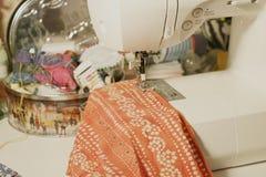Szwalni i handmade materiały zdjęcie stock