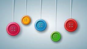Szwalny batton - koloru set Przedmiot na popielatym tle ilustracja wektor