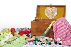 Szwalny pudełko Zdjęcia Royalty Free