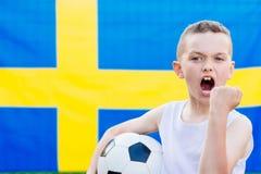 Szwecja drużyny futbolowej krajowy zwolennik Zdjęcie Stock
