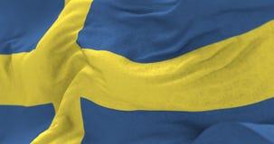 Szwecja flaga w wiatrze ilustracja wektor