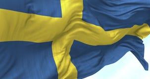 Szwecja flaga w wiatrze ilustracji