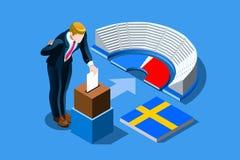 Szwecja wybory szwedów głosowanie Infographic Obraz Royalty Free
