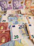 szwedzcy banknoty i euro rachunki zdjęcia stock