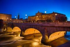 Szwedzi dom parlament w Sztokholm Obraz Royalty Free