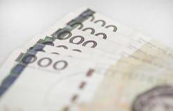Szwedzi 1000 rachunków Obrazy Royalty Free