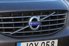 SZWEDZI VOLVO samochodu logo Fotografia Stock