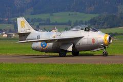 Szwedzka siły powietrzne Saab 29 Fotografia Royalty Free