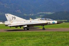 Szwedzka siły powietrzne Saab 35 Draken Zdjęcie Stock