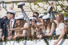 Szwedzka skalowanie parada Fotografia Royalty Free