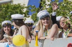 Szwedzka skalowanie parada Zdjęcia Stock