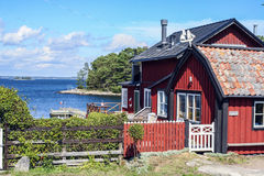 Szwedzka wieś blisko fotografia stock