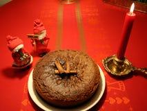Szwedzki boże narodzenie tort z rolkami na wierzchołku obraz stock