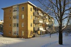 Szwedzki budynki mieszkalne Zdjęcia Royalty Free
