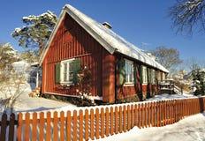 Szwedzki budynki mieszkalne zdjęcie stock