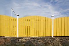 Szwedzki deski ogrodzenie Fotografia Stock