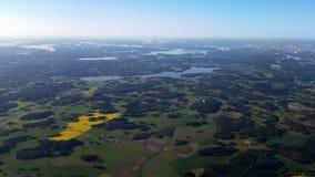 Szwedzki lato od powietrza Zdjęcie Royalty Free