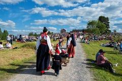 Szwedzki muzyka ludowa festiwal obrazy stock