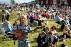 Szwedzki muzyka ludowa festiwal zdjęcia royalty free