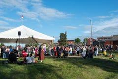Szwedzki muzyka ludowa festiwal zdjęcie stock