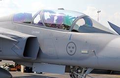 Szwedzki samolot JAS-39 Grippen Obrazy Royalty Free