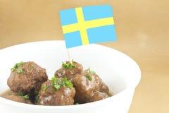 szwedzkie klopsiki Obrazy Stock